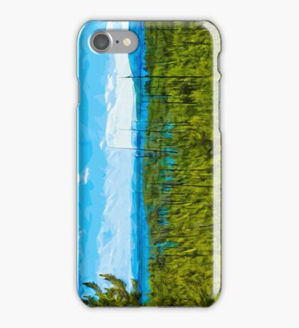Yellowstone National Park Abstract Impressionism 6 iPhone Case/Skin
