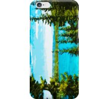Yellowstone National Park Abstract Impressionism 5 iPhone Case/Skin
