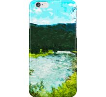 Yellowstone National Park Abstract Impressionism 1 iPhone Case/Skin