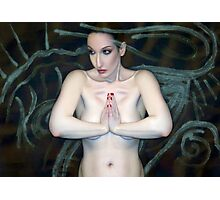 Sacred  Primal Strength - Self Portrait Photographic Print