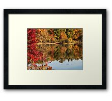Autumn Watercolors Framed Print