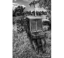 B&W Rustic Allis Chalmers Photographic Print