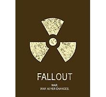 Fallout Minimalist Photographic Print