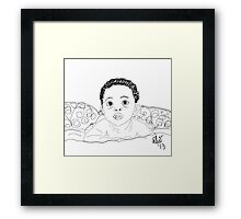 Uh! OH! - Digital Sketch Framed Print
