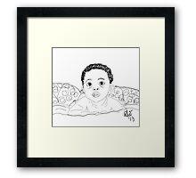 Uh! OH! - Digital Sketch Framed Print