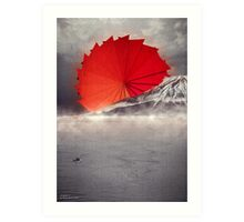 Origami II - Mount Fuji Japan Art Print