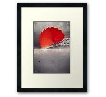 Origami II - Mount Fuji Japan Framed Print