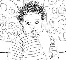 Mommie Can We Go Outside - Digital Sketch by © Angela L Walker