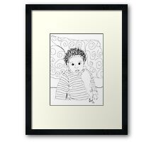 Mommie Can We Go Outside - Digital Sketch Framed Print