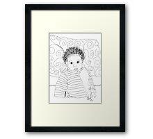 Mommie Can We Go Outside - Digital Sketch Framed Print