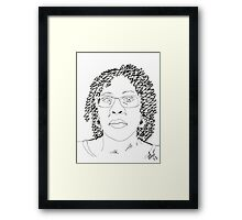 Twist-Out Do with As I Am Double Butter Creme - Digital Sketch Framed Print