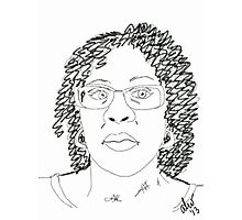 Twist-Out Do with As I Am Double Butter Creme - Digital Sketch Photographic Print