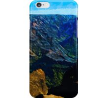 Waimea Canyon 21 Abstract Impressionism iPhone Case/Skin