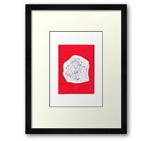 0811 - Red and Moving Fast Framed Print