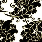 Classy Damask Pattern With Gold Trim by idesignstuff