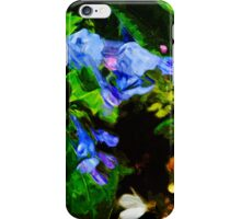 Virginia Bluebell - 3 Abstract Impressionism iPhone Case/Skin