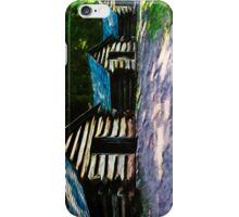 Rustic Log Cabins Valley Forge Abstract Impressionism iPhone Case/Skin