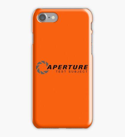 Aperture Laboratories Test Subject iPhone Case/Skin