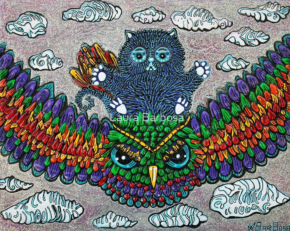 Rainbow Owl Ride by Laura Barbosa