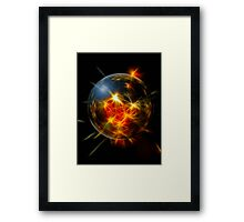 Abstract Christmas Decoration Ball Framed Print