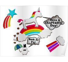 Unicorn And Penguin Craptastic Day Poster
