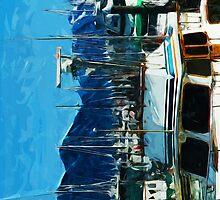 The Harbor of Seward Alaska Abstract Impressionism by pjwuebker