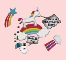 Unicorn And Penguin Craptastic Day Kids Clothes