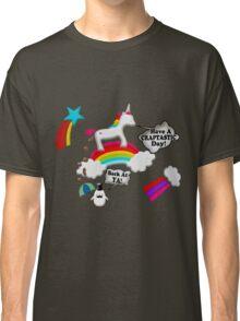 Unicorn And Penguin Craptastic Day Classic T-Shirt