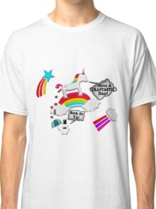 Unicorn And Penguin Craptastic Day Classic T-Shirt
