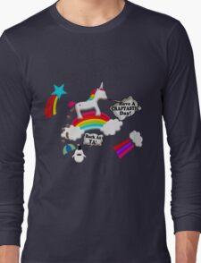 Unicorn And Penguin Craptastic Day Long Sleeve T-Shirt