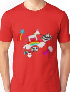 Unicorn And Penguin Craptastic Day Unisex T-Shirt