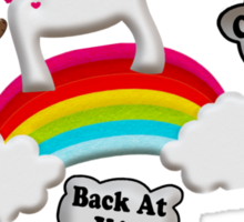 Unicorn And Penguin Craptastic Day Sticker