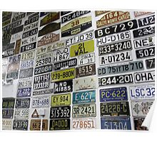Number Plates Collective Poster
