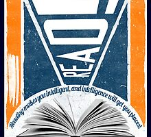 Reading = Intelligence! (Constructivism Poster) by ARTSHOP