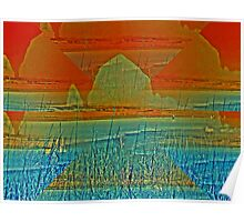 Haystack Rock in Layers Poster