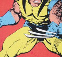 Wolverine Retro Comic Sticker