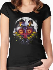 Power Behind The Mask Women's Fitted Scoop T-Shirt
