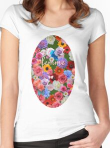 femme flowers Women's Fitted Scoop T-Shirt
