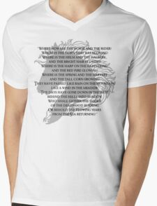 Where now are the horse and the rider Mens V-Neck T-Shirt