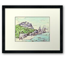 Pointe Source D'Argent Framed Print