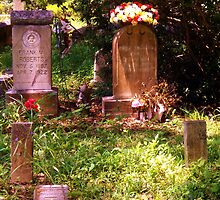 Bouquet Tomb Stones Artistic Photograph by Shannon Sears by twobrokesistas