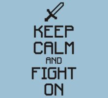 Keep calm and fight on (black) Kids Clothes