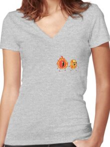 The Lord Of The Rings. Women's Fitted V-Neck T-Shirt