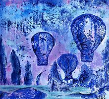 Balloon Skyscape (mixed media) by Niki Hilsabeck