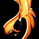 Fire Water 260 By Sharon Cummings - Orange And Yellow Abstract Art Painting by Sharon Cummings