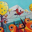 Bird on a Tightrope by Margaret Krajnc