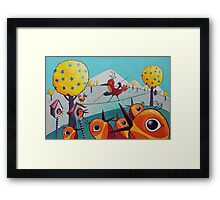 Bird on a Tightrope Framed Print