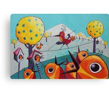 Bird on a Tightrope Canvas Print