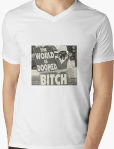 The World Is MF DOOMED Mens V-Neck T-Shirt