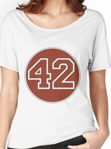 42 - red circle Women's Relaxed Fit T-Shirt
